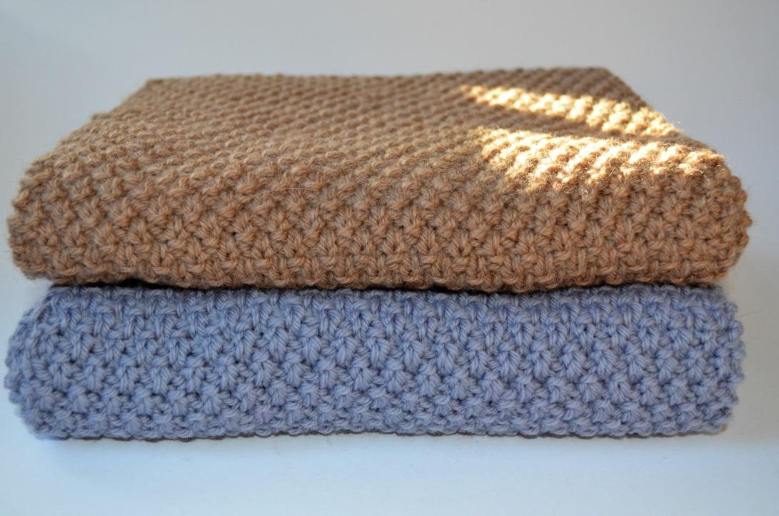 Seed Stitch Scarves